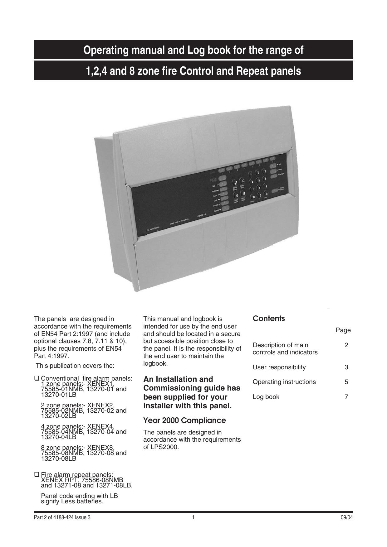 Gent Xenex User Manual Operator Instructions Manualzz