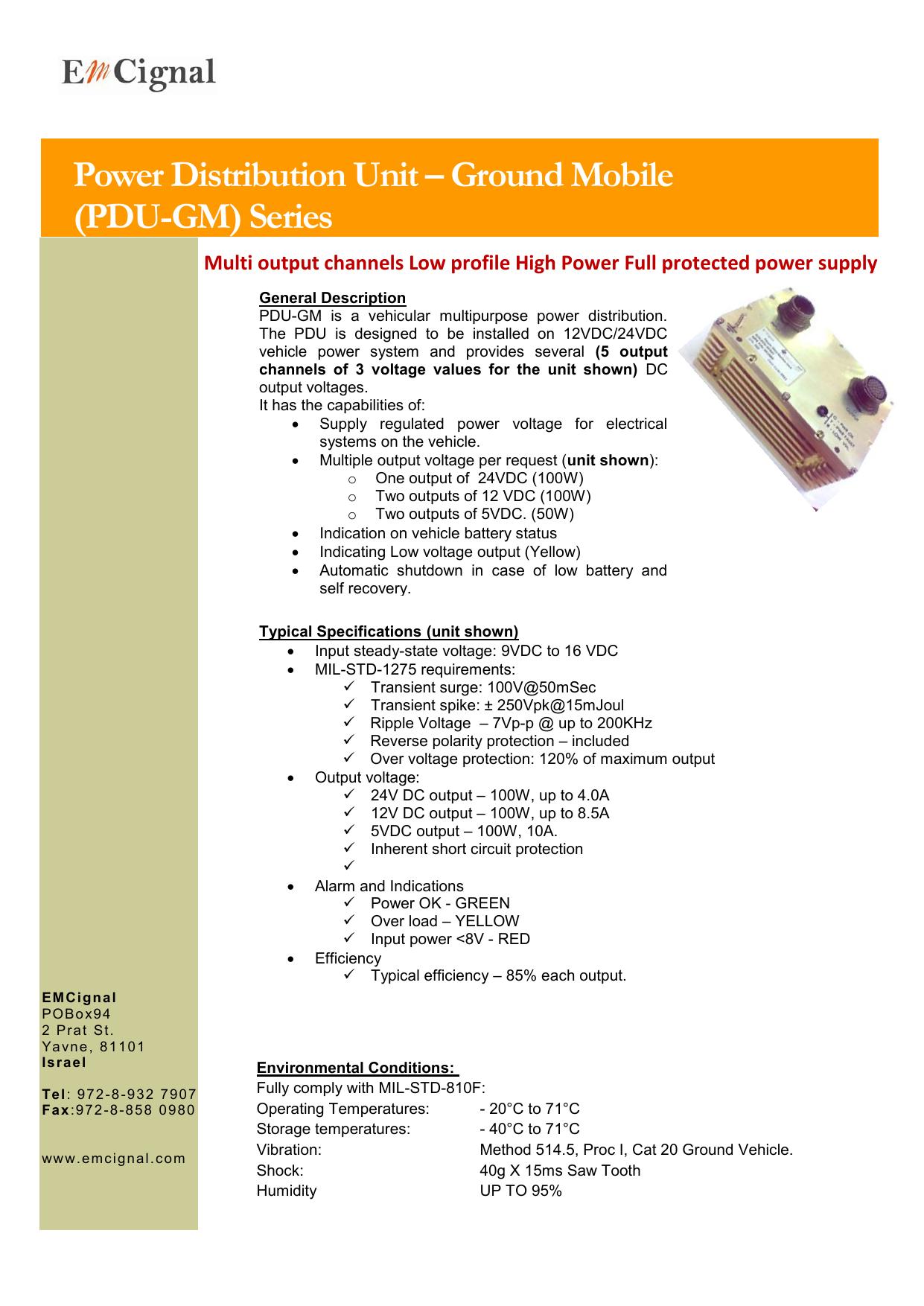Power Distribution Unit – Ground Mobile (PDU-GM | manualzz com