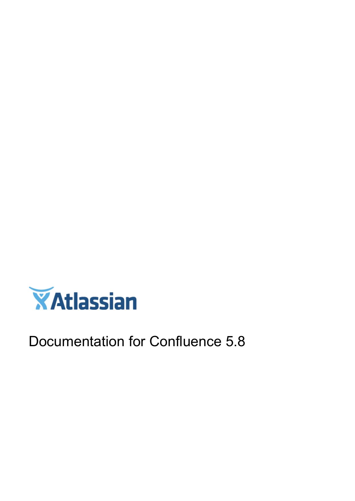 Documentation for Confluence 5 8 | manualzz com