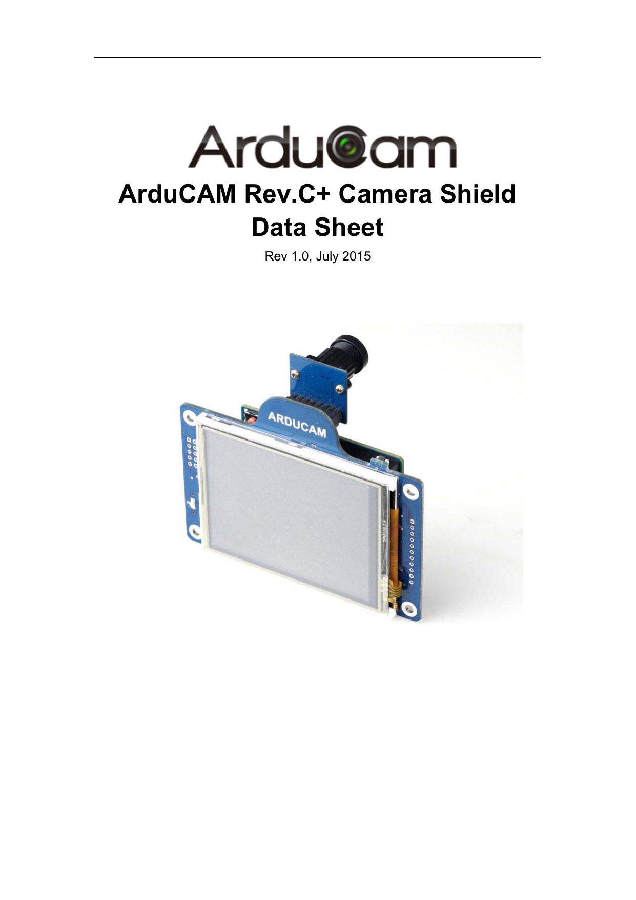 ArduCAM Rev C+ Camera Shield Data Sheet | manualzz com