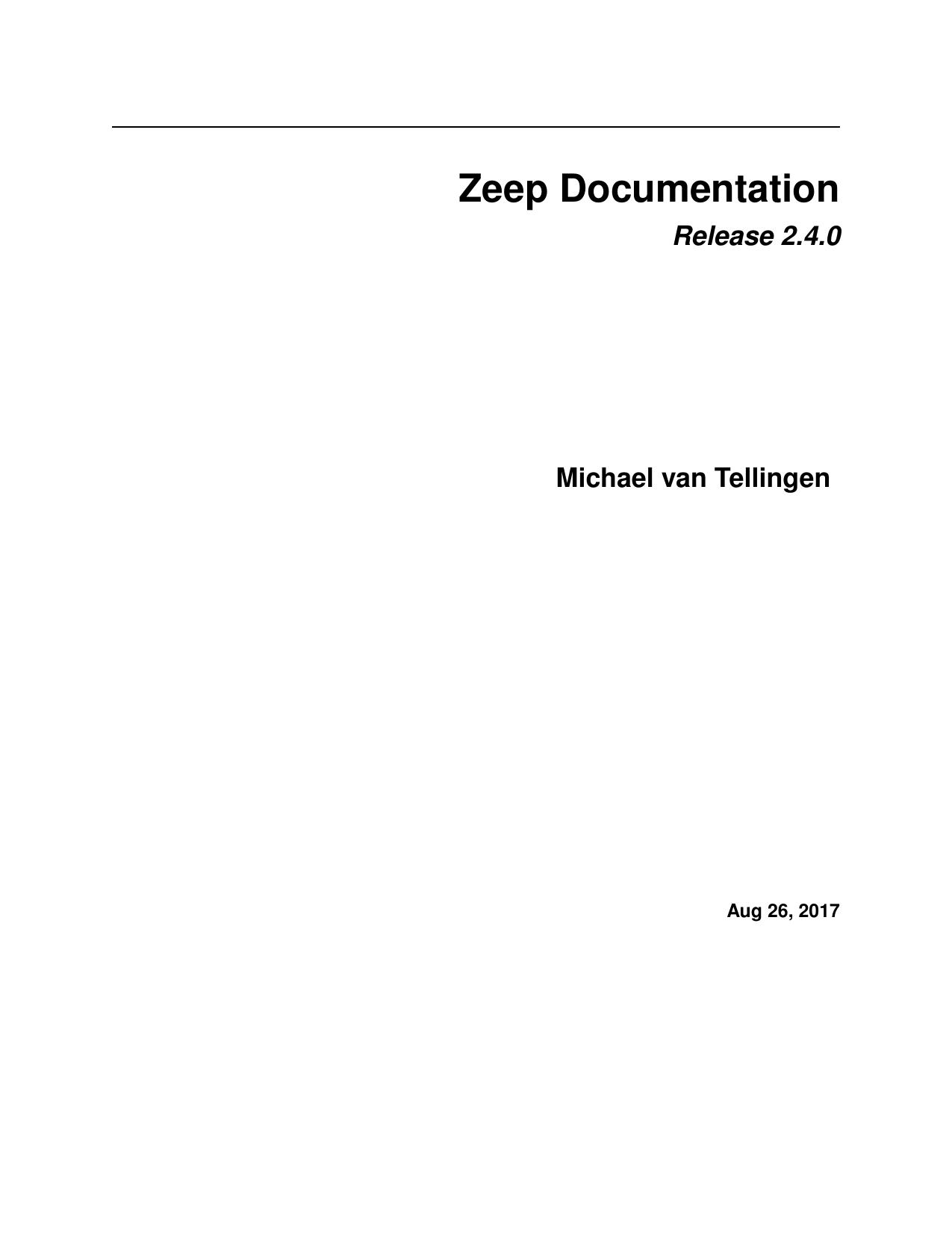 Zeep Documentation | manualzz com