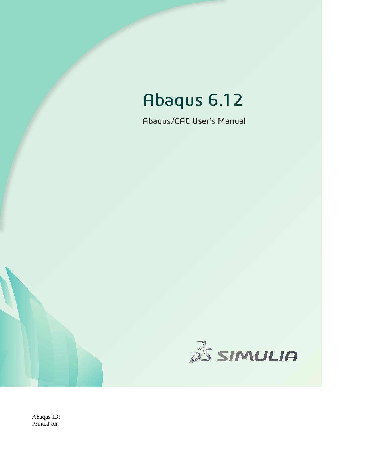 Abaqus/CAE User`s Manual   manualzz com