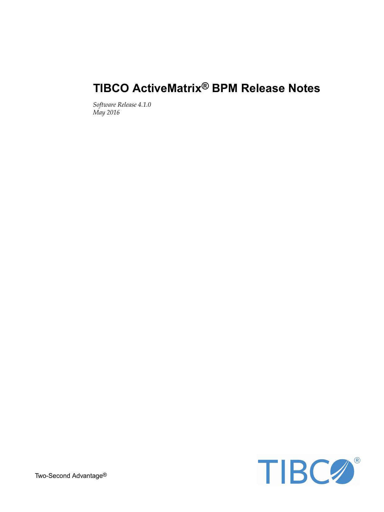 TIBCO ActiveMatrix® BPM Release Notes   manualzz com