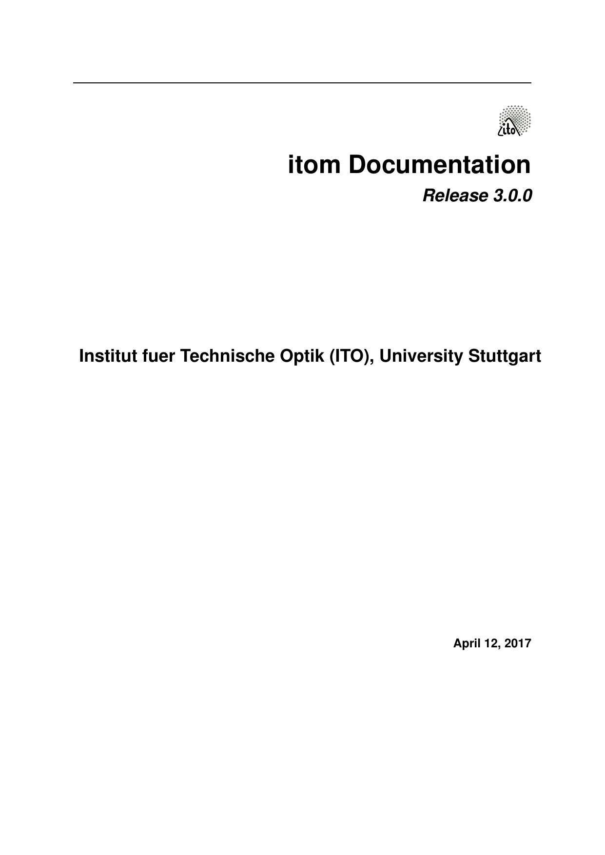 itom Documentation | manualzz com
