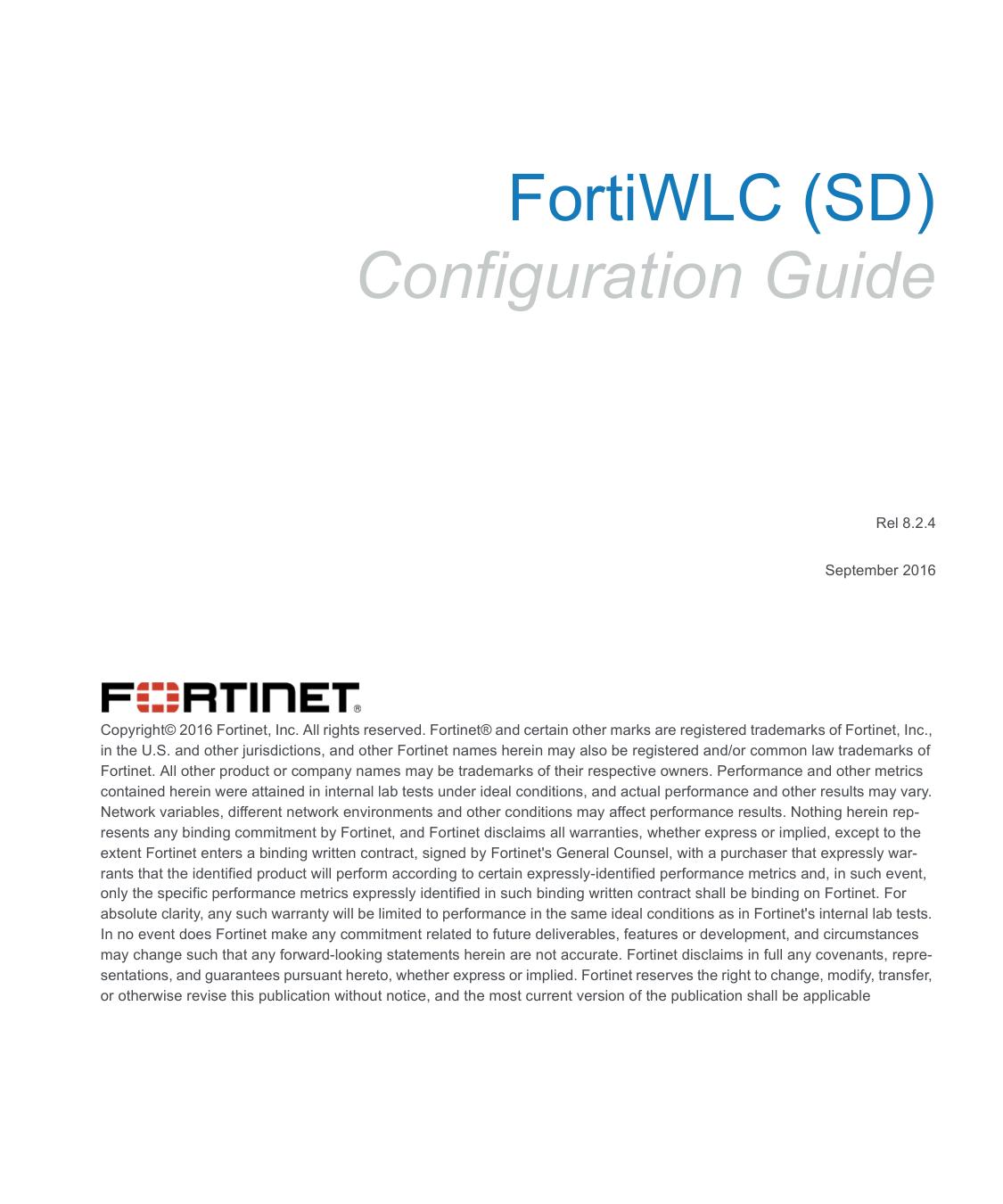 FortiWLC (SD) Configuration Guide | manualzz com