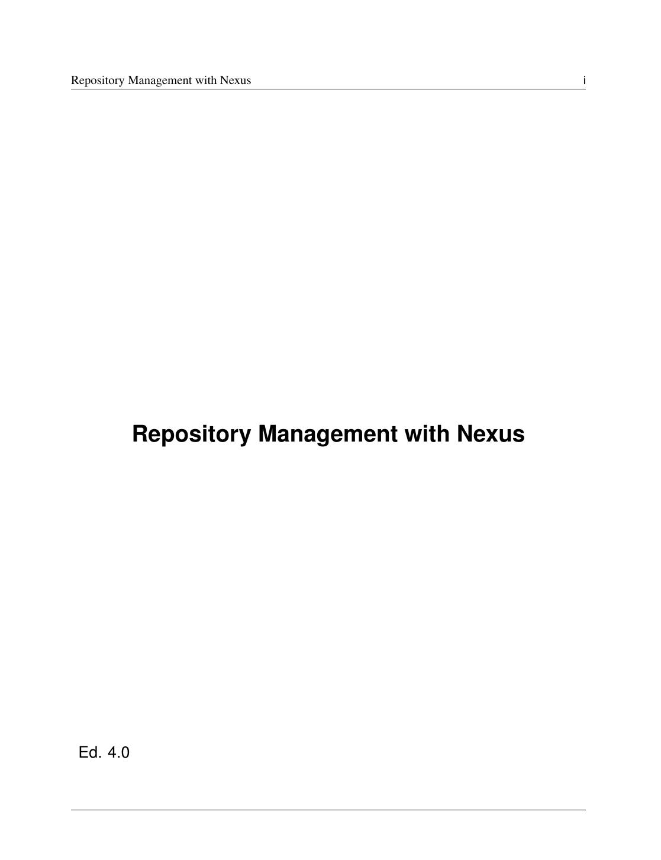 Repository Management with Nexus | manualzz com