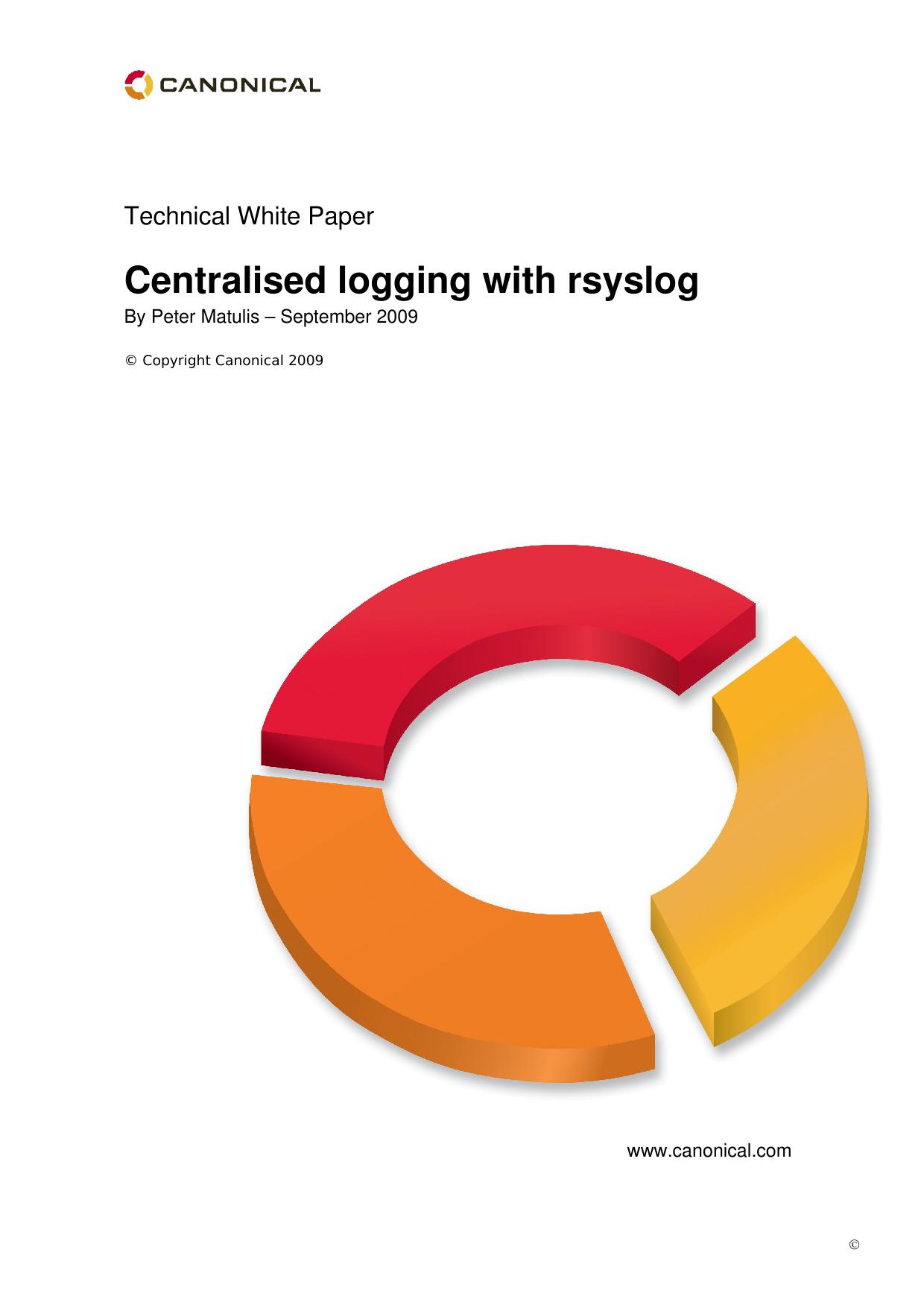 Centralised logging with rsyslog | manualzz com