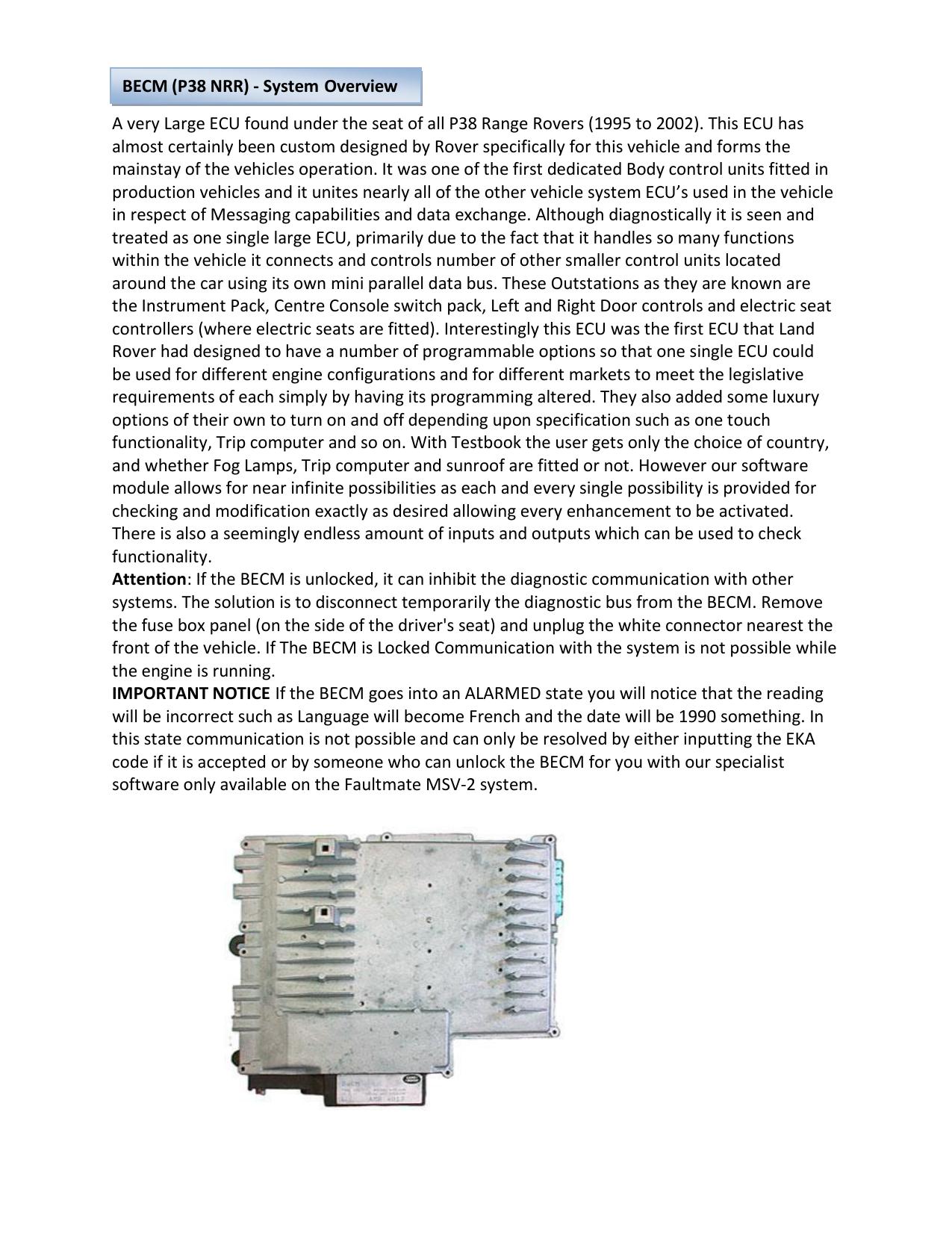 P38 BECM - NANOCOM Diagnostics | manualzz com
