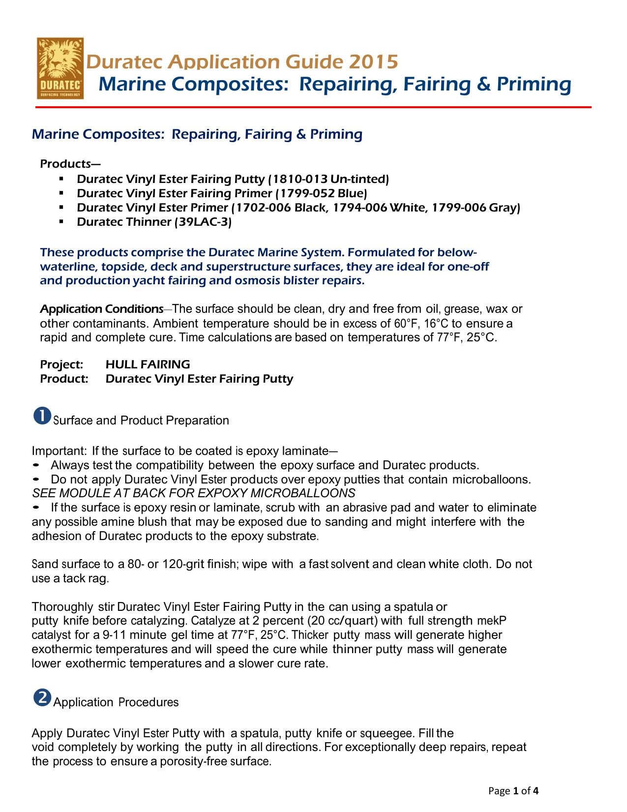 Duratec Application Guide 2015 Marine | manualzz com