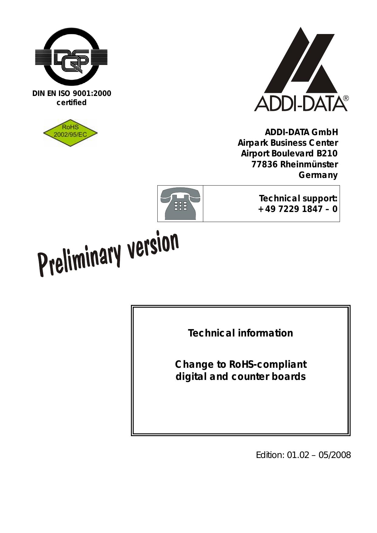 ADDI-DATA PA100 Driver for Windows 7