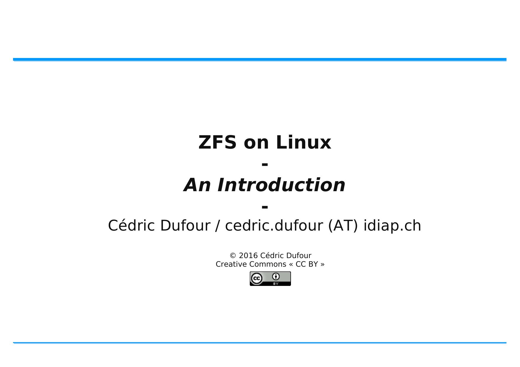 ZFS on Linux   manualzz com