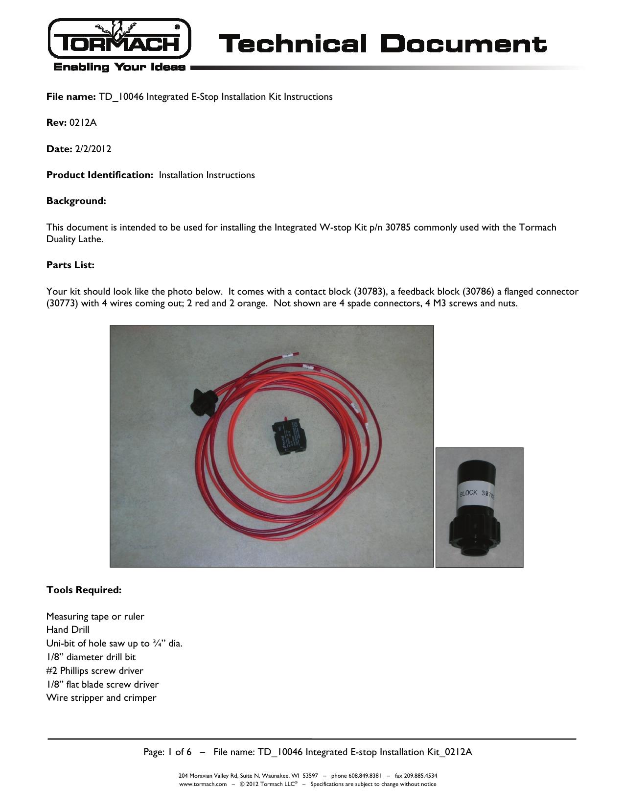 Tormach Wiring Diagram    Wiring Diagram