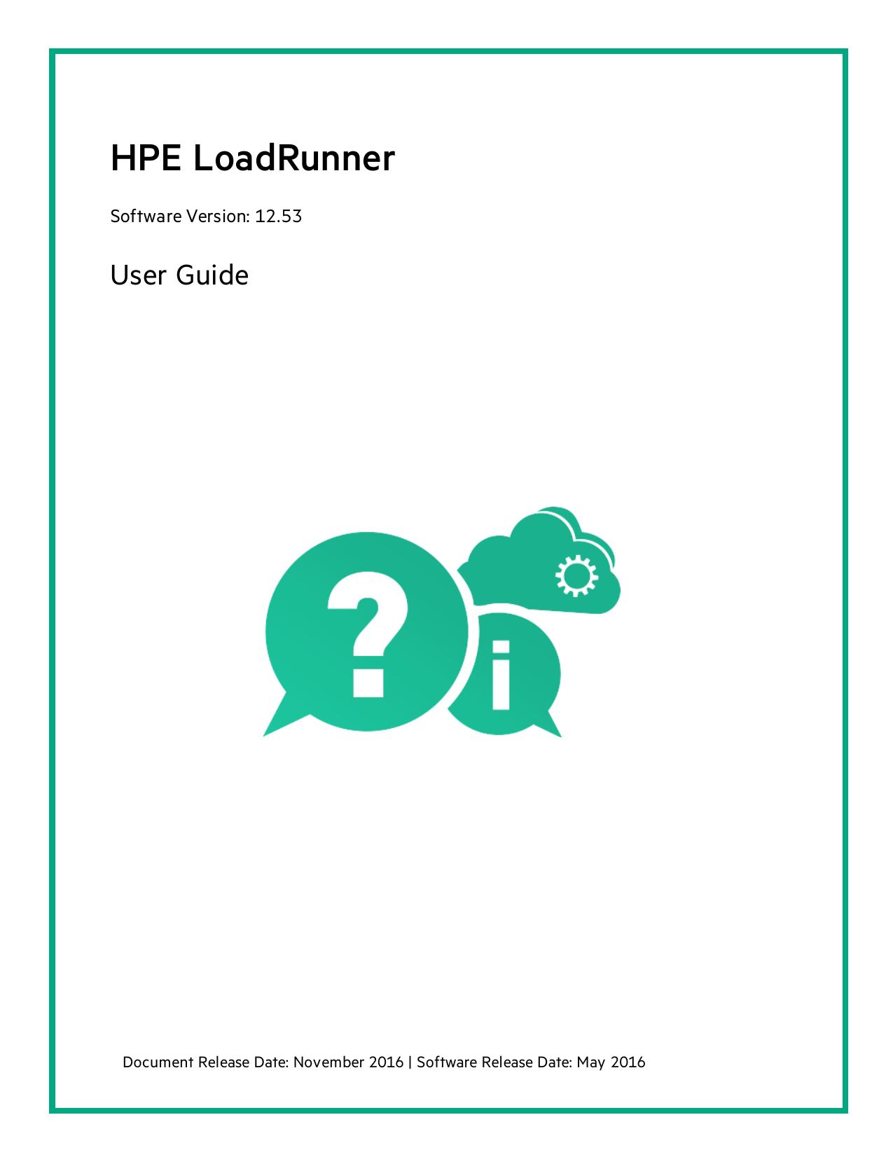 HPE LoadRunner User Guide - LoadRunner Help Center