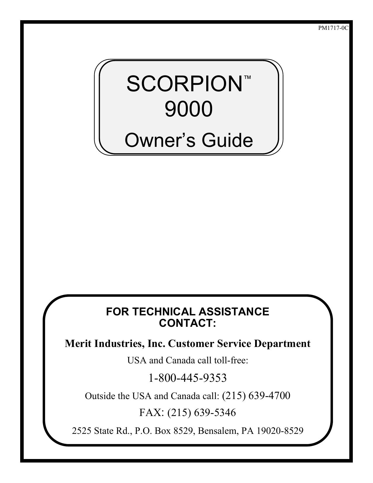 on merit scorpion dart wiring diagram