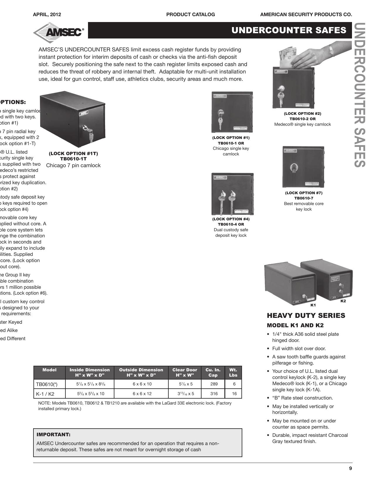 undercounter safes - Havens For Total Security Fresno CA | manualzz com