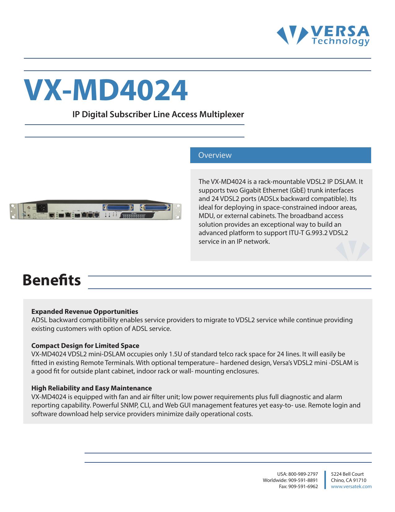 VX-MD4024 - Versa Technology | manualzz com