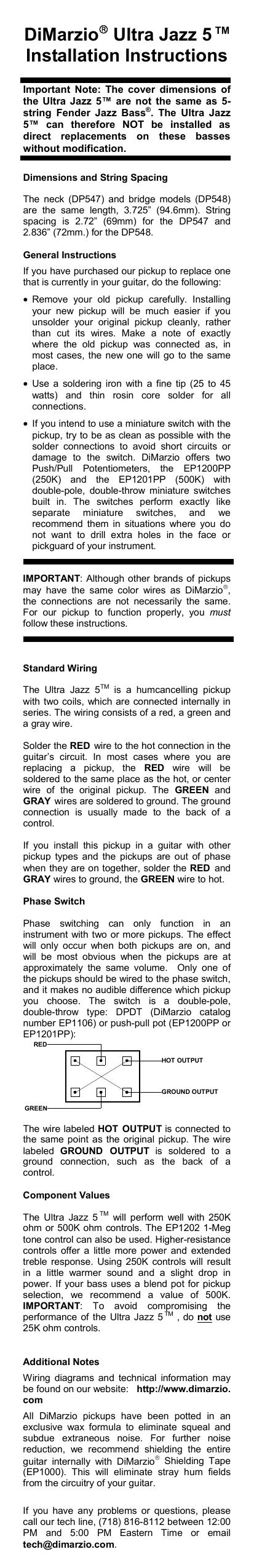 Way Switch Wiring Diagram On Dimarzio 5 Way Switch Wiring Diagram