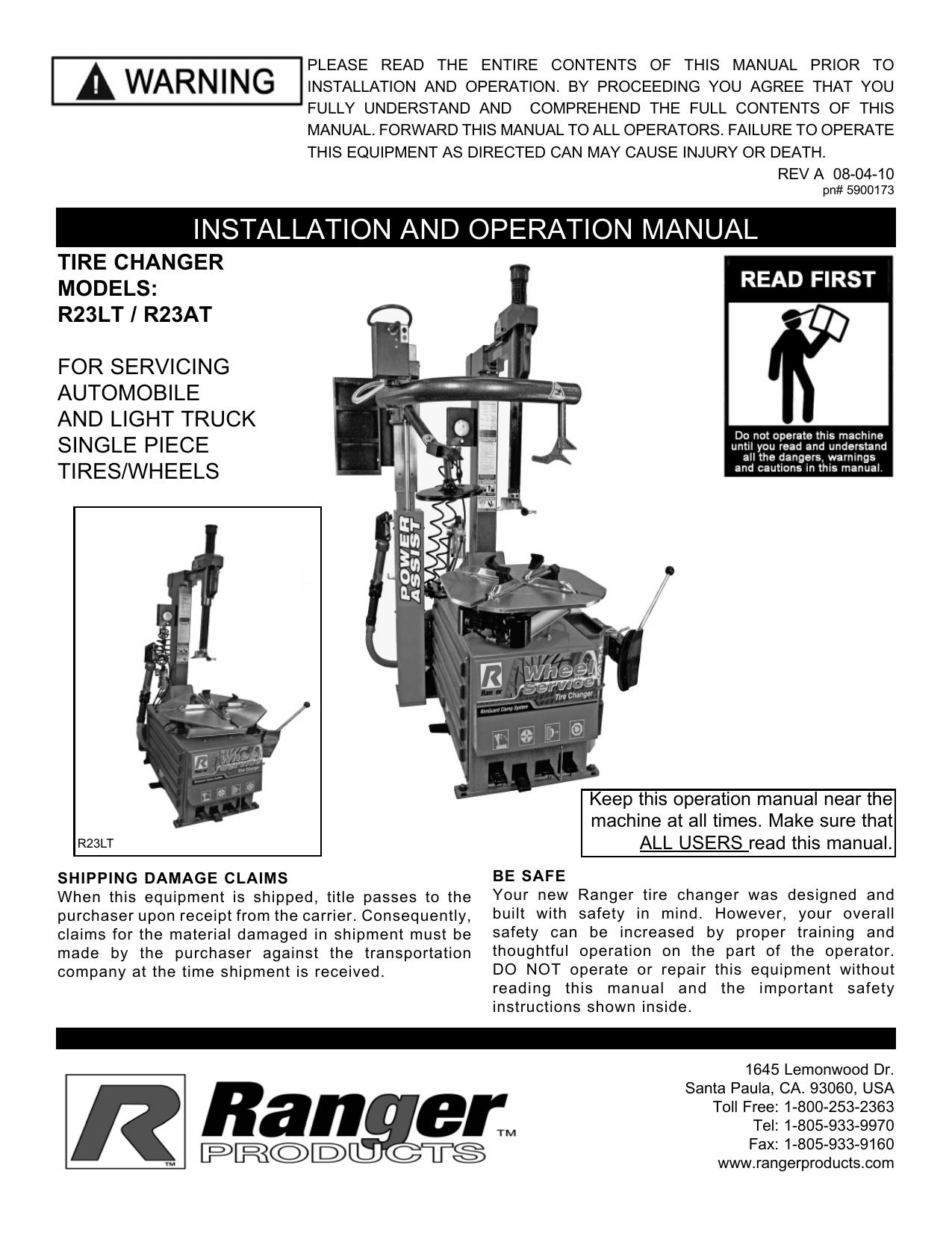 R23AT Manual Revised 06-10.indd | manualzz.com on