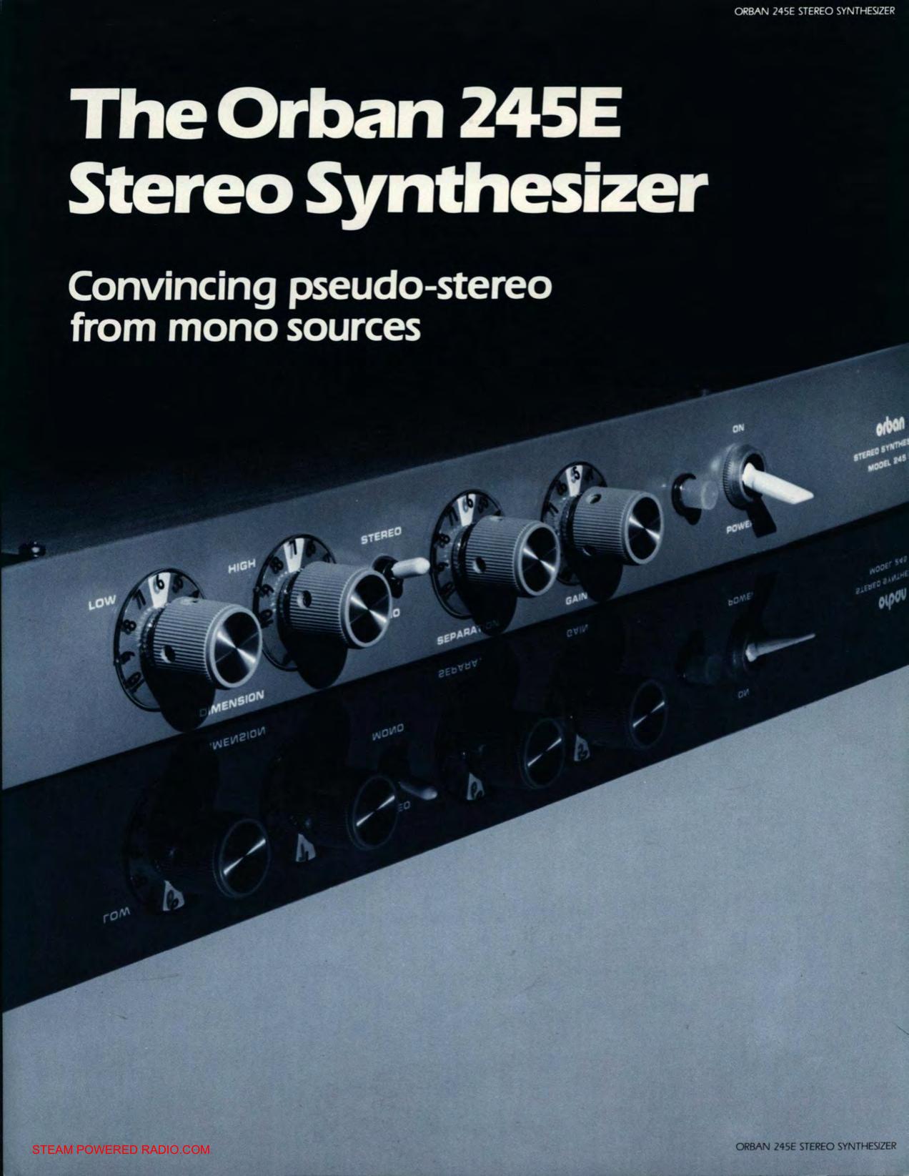Orban 245e Stereo Synthesizer Brochure Mono To