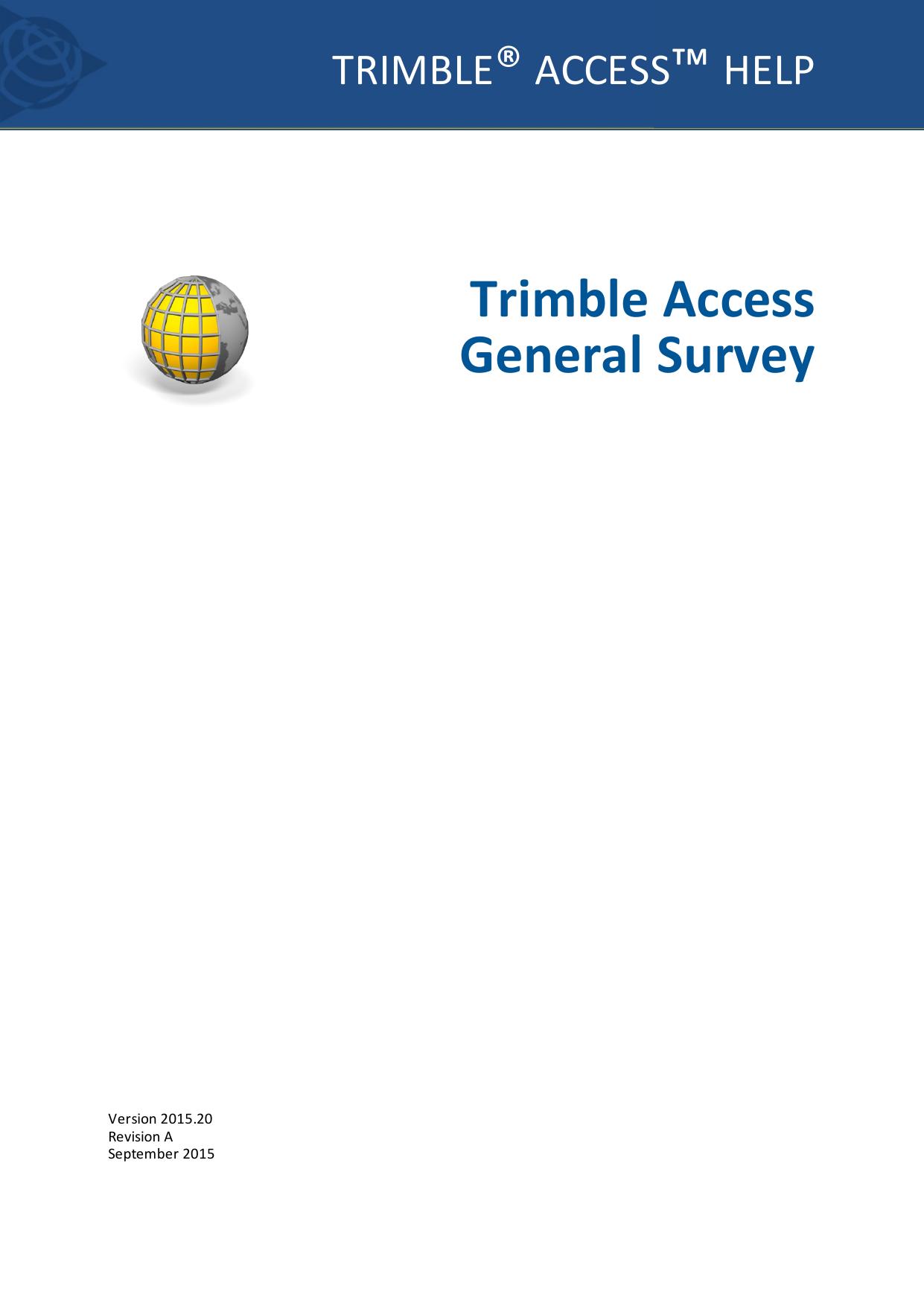 Trimble Access General Survey Help | manualzz com