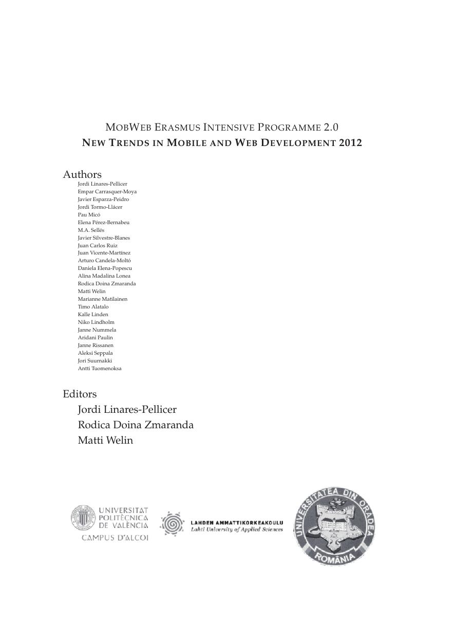 Authors Editors Jordi Linares-Pellicer Rodica Doina Zmaranda