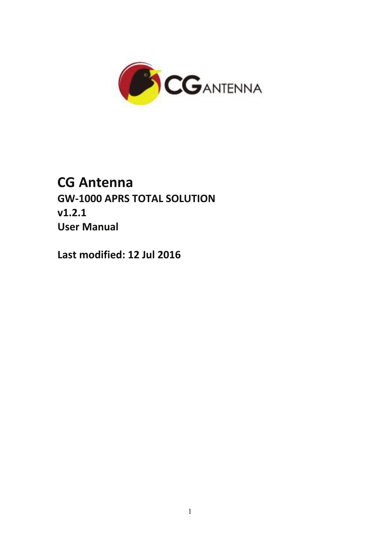 CG Antenna | manualzz com