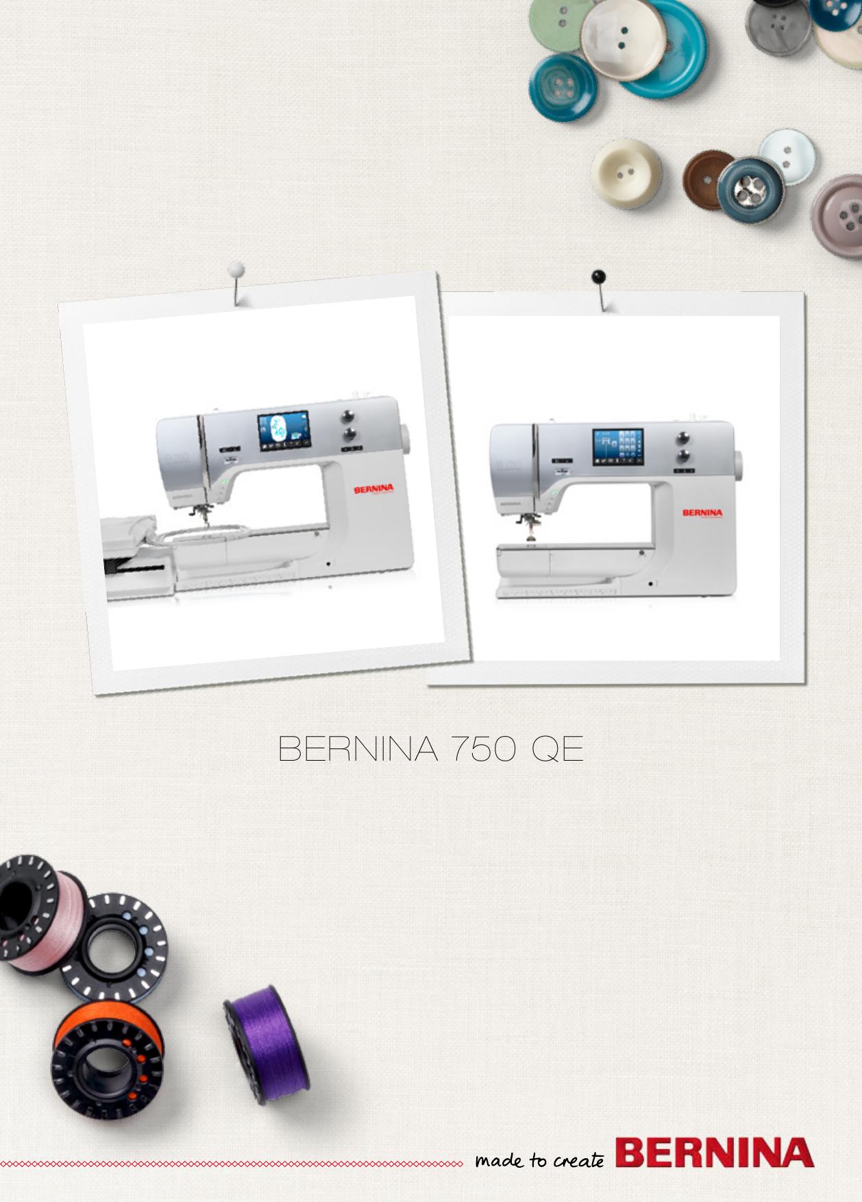 BERNINA 750 QE | manualzz com