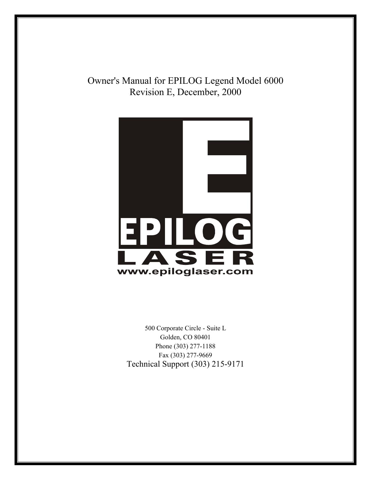 Epilog Summit Laser Engraver Manual | manualzz com