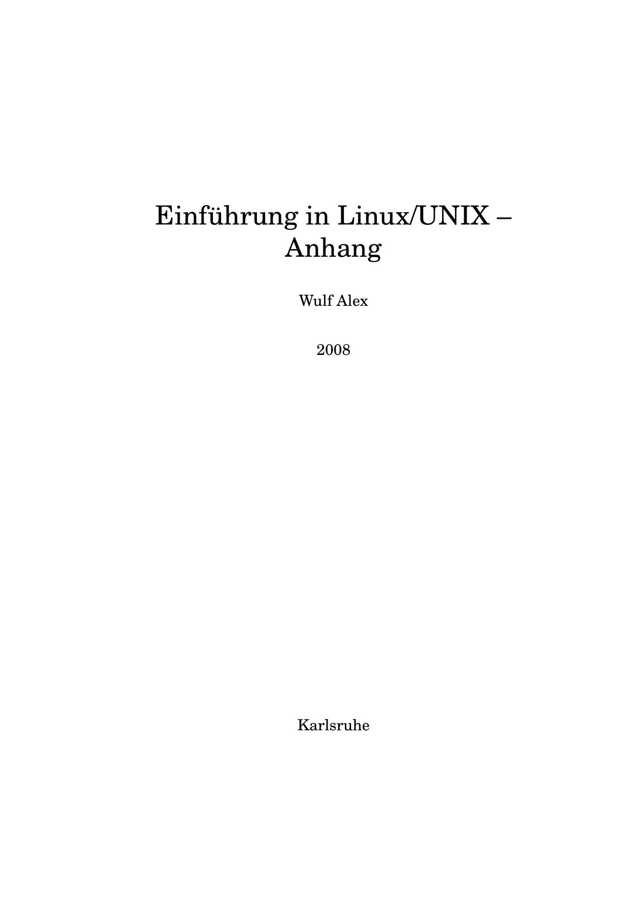 Einführung in Linux/UNIX – Anhang