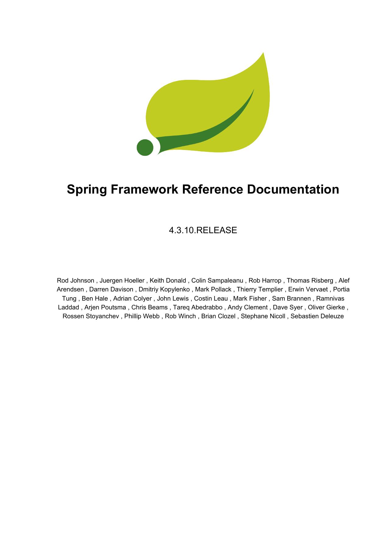 Spring Framework Reference Documentation | manualzz com