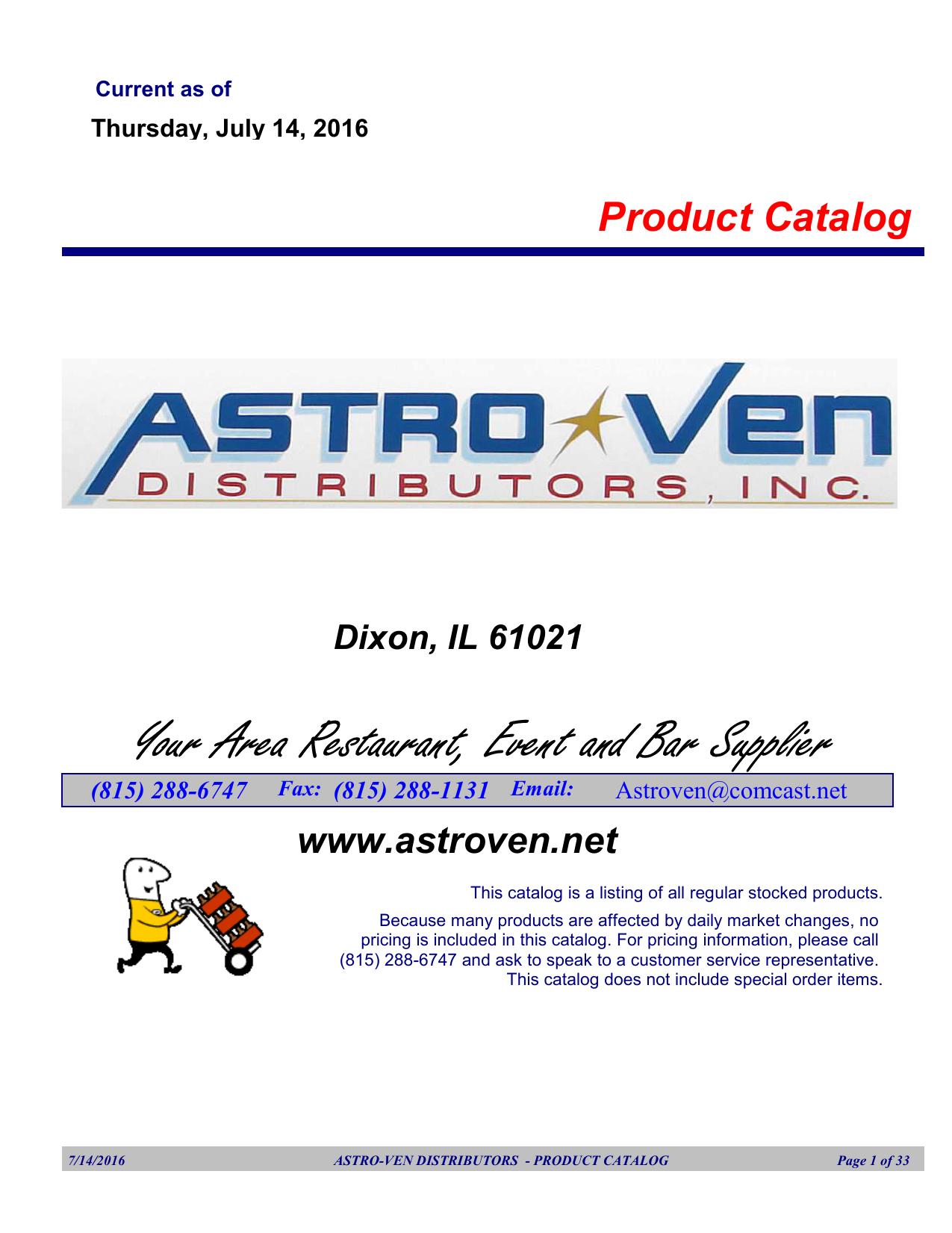 Route Catalog - Astro-Ven