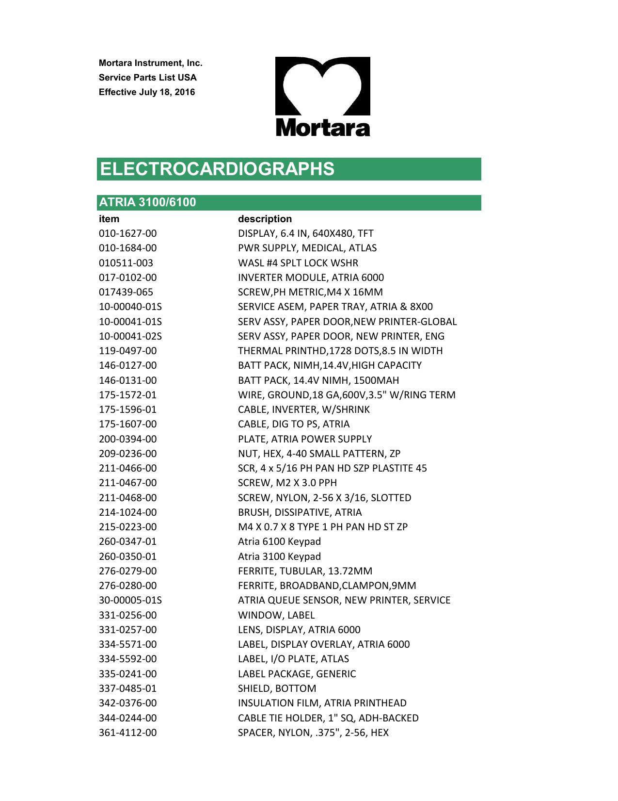 ELECTROCARDIOGRAPHS - Mortara Support Website | manualzz com