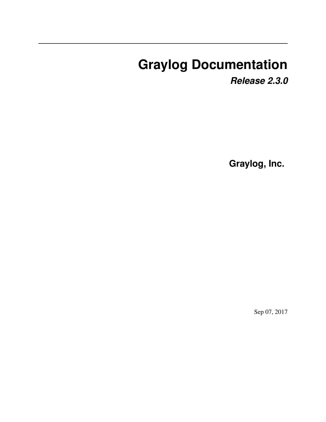 Graylog Documentation | manualzz com