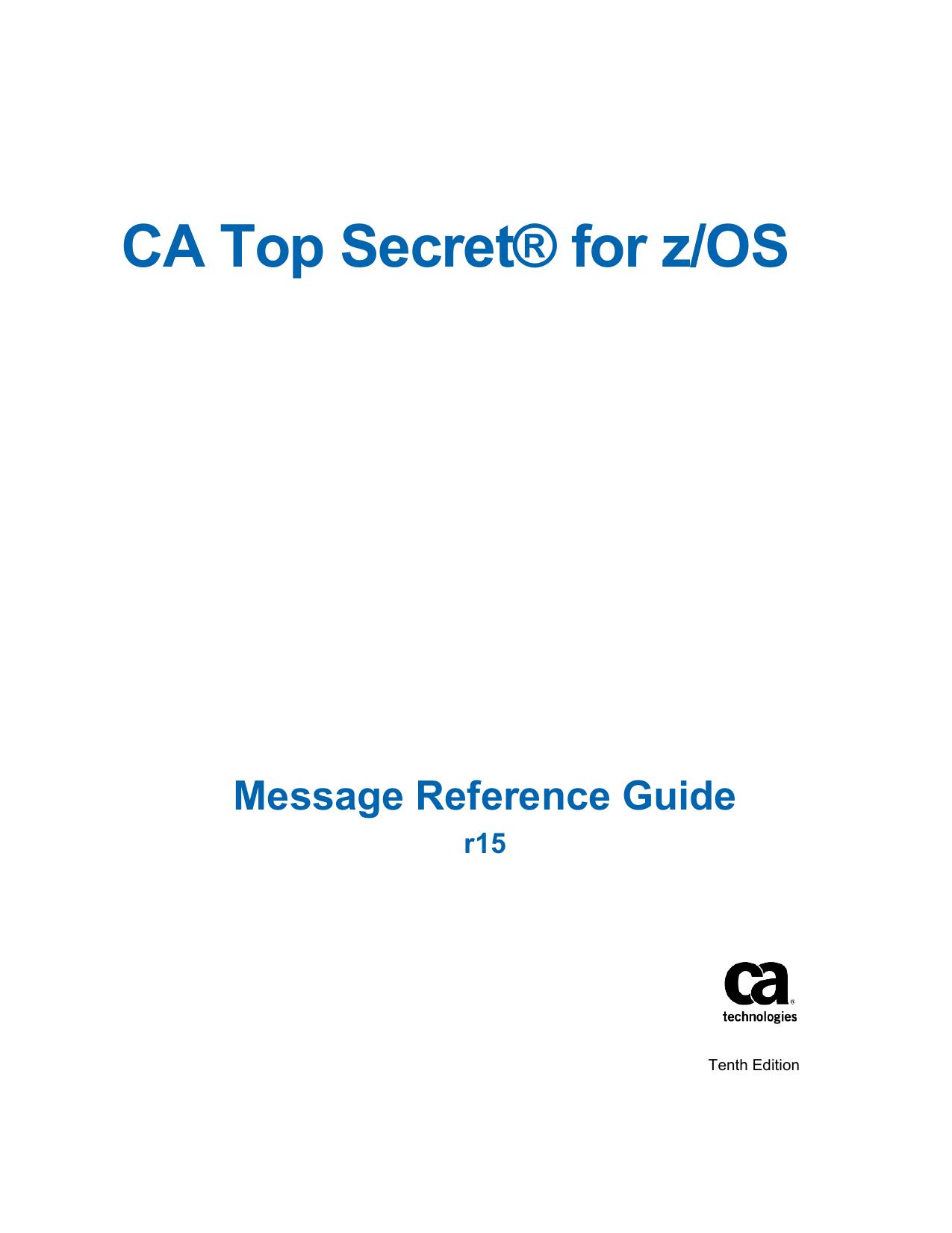 Ca top secret for z/os pdf free download.