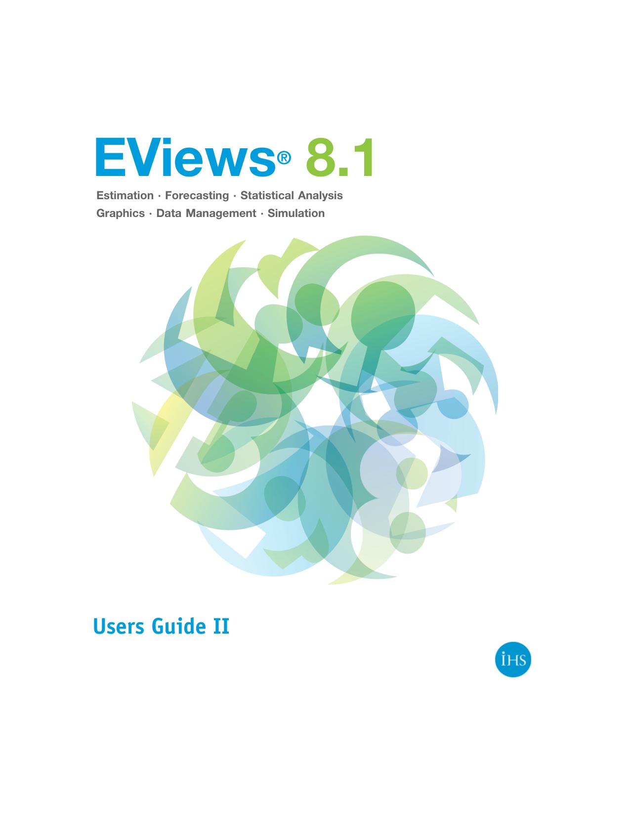 EViews 8 User`s Guide II | manualzz com