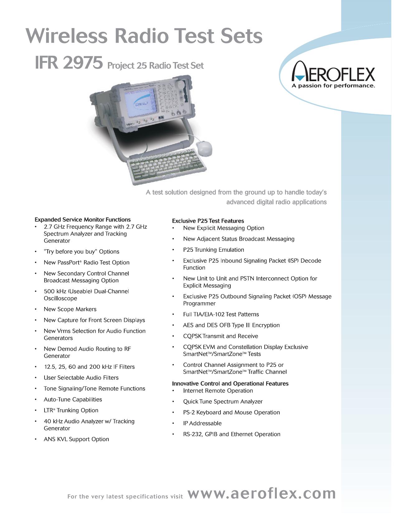 IFR 2975 Specifications | manualzz com