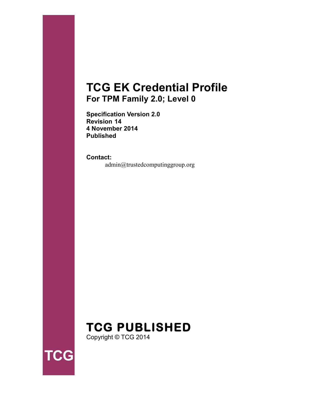 TCG Credential Profile EK 2 0   manualzz com