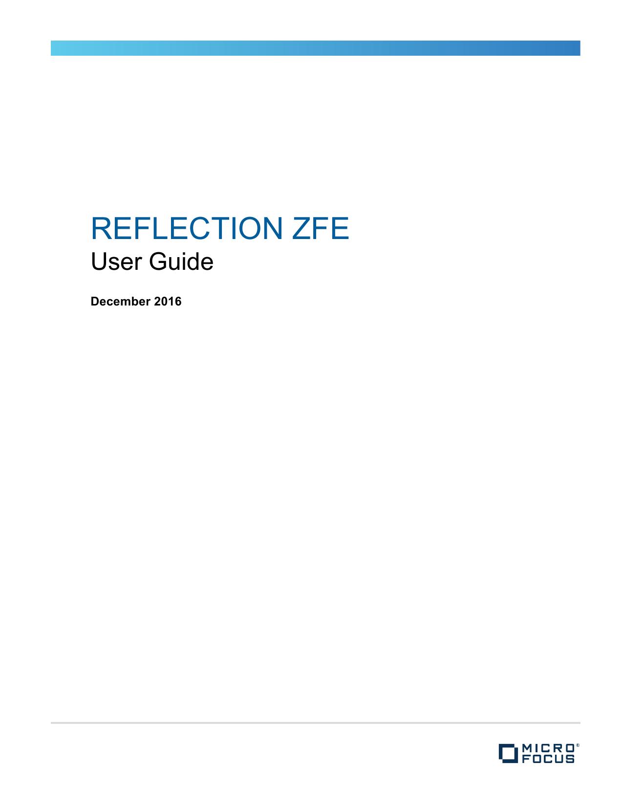 Reflection ZFE 2 0 2 | manualzz com