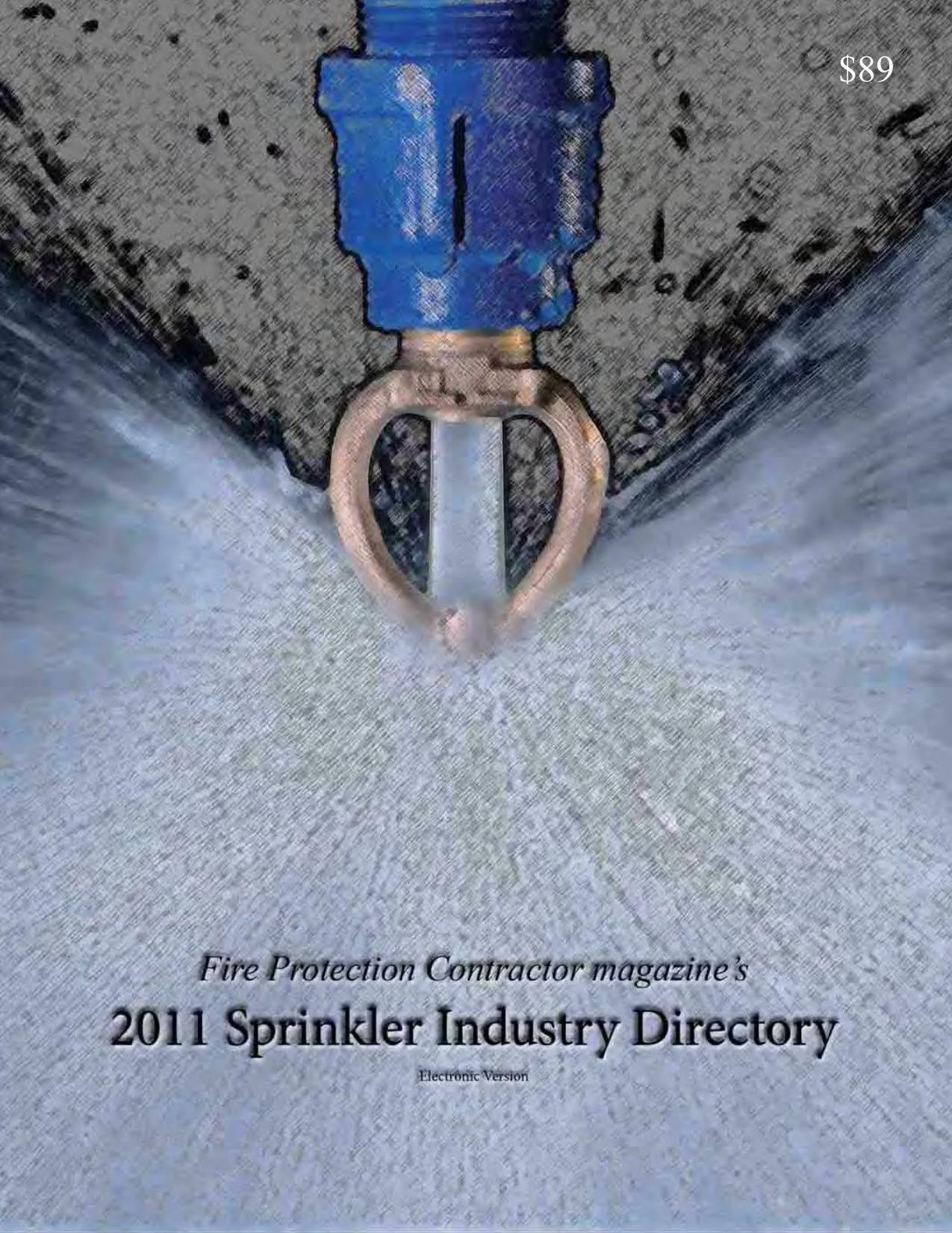 FPC`s 2011 SPRINKLER INDUSTRY DIRECTORY | manualzz com