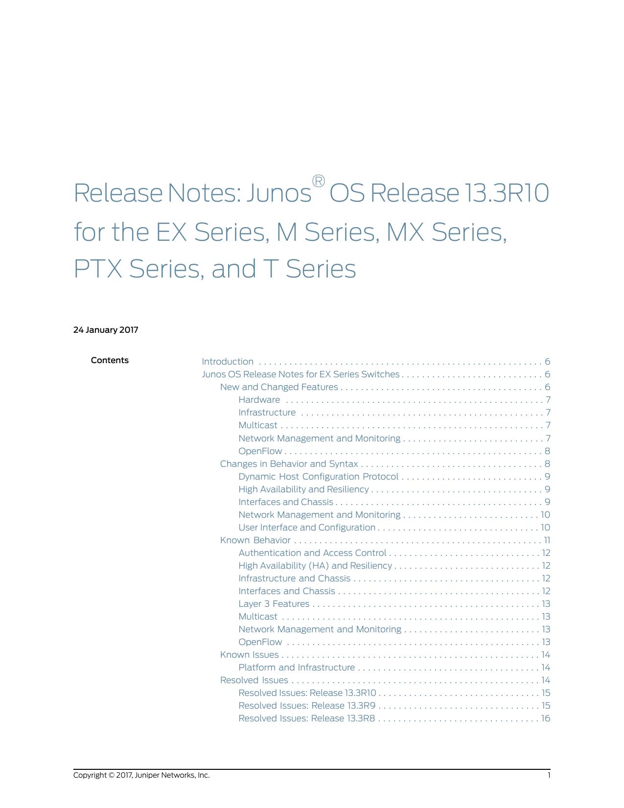 Release Notes: Junos® OS Release 13 3R10 for | manualzz com