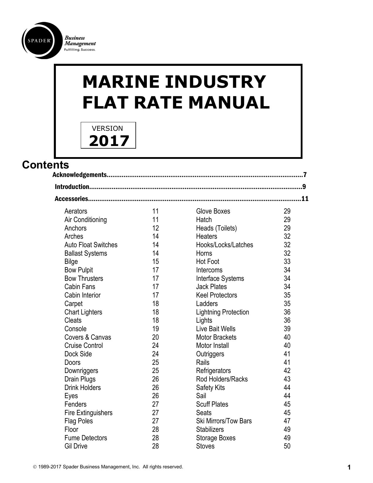spader marine labor guide