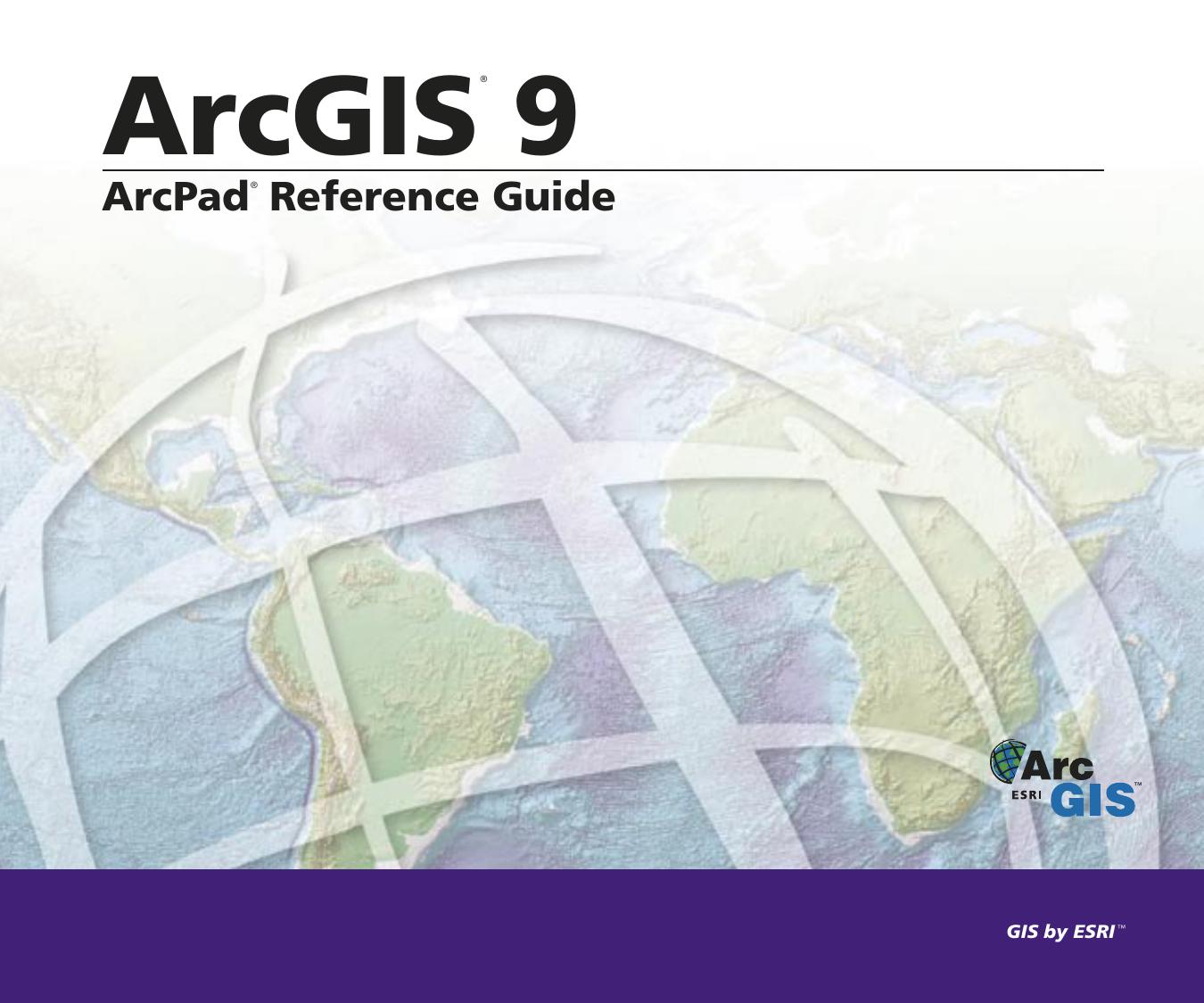 ArcPad Reference Guide | manualzz com