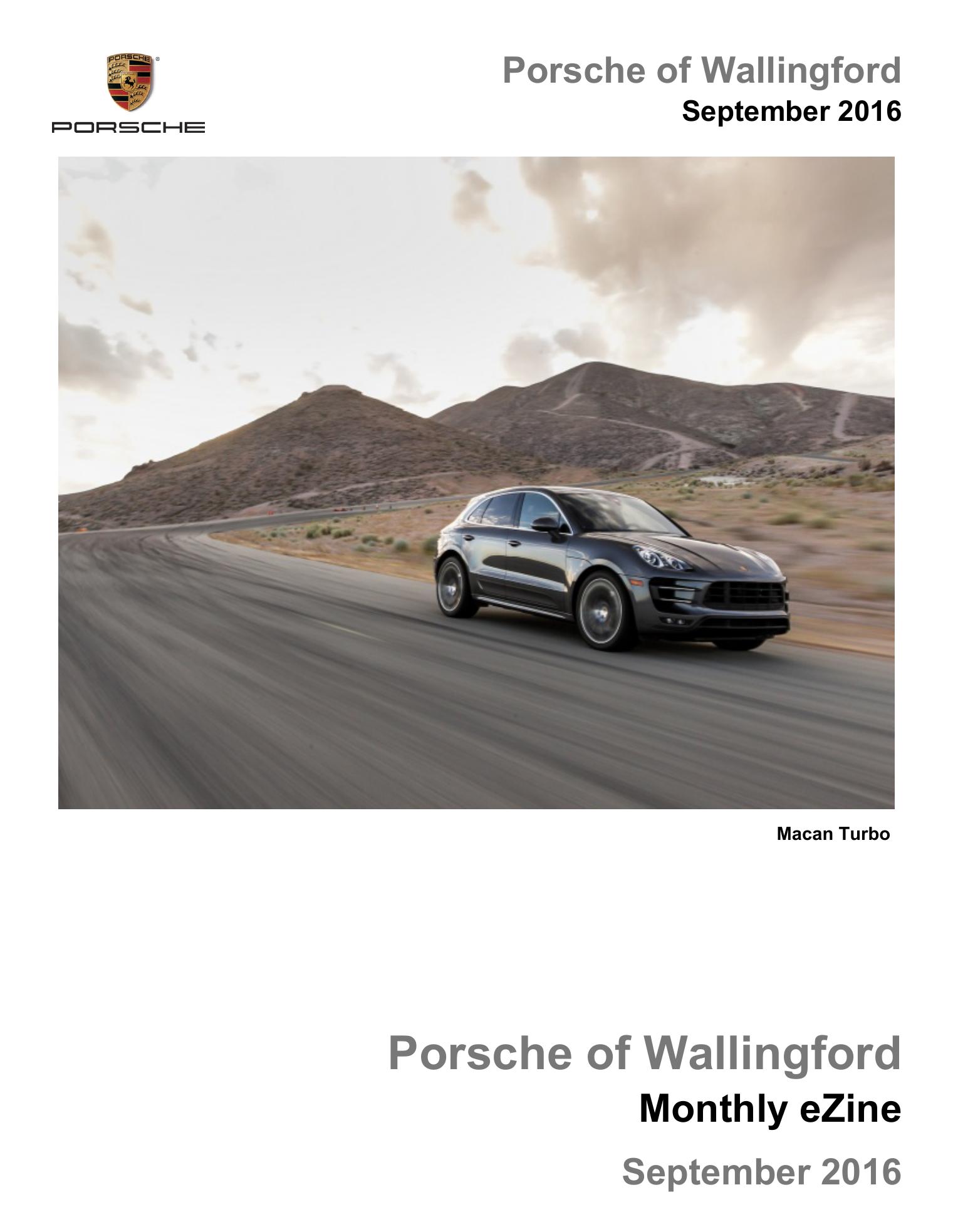 Porsche Of Wallingford >> Porsche Of Wallingford September 2016 Manualzz Com