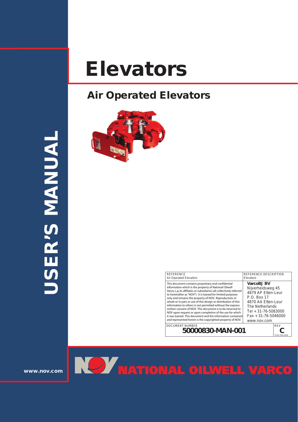 elevators national oilwell varco manualzz com rh manualzz com National Oilwell Varco News National Oilwell Varco Houston