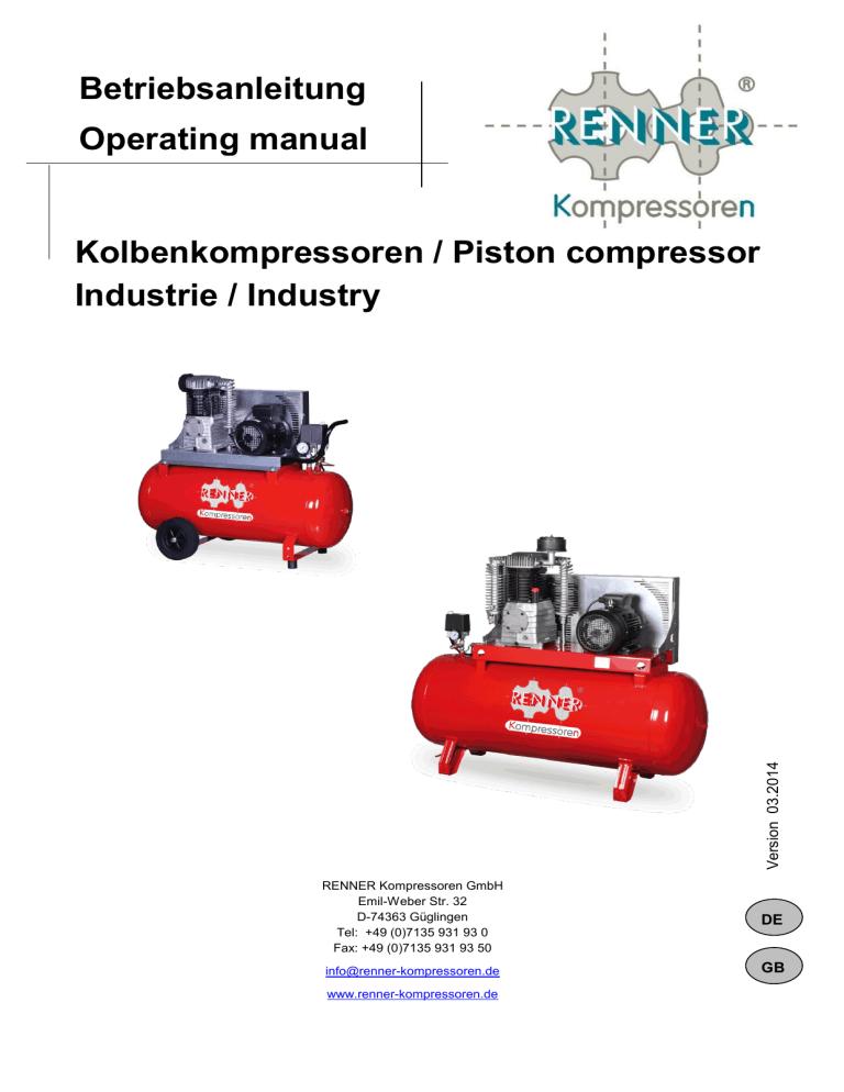 Kolbenkompressoren Piston Compressor Industrie Industry Manualzz
