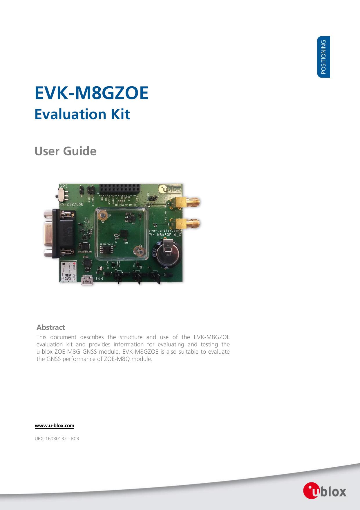 EVK-M8GZOE - u-blox | manualzz com