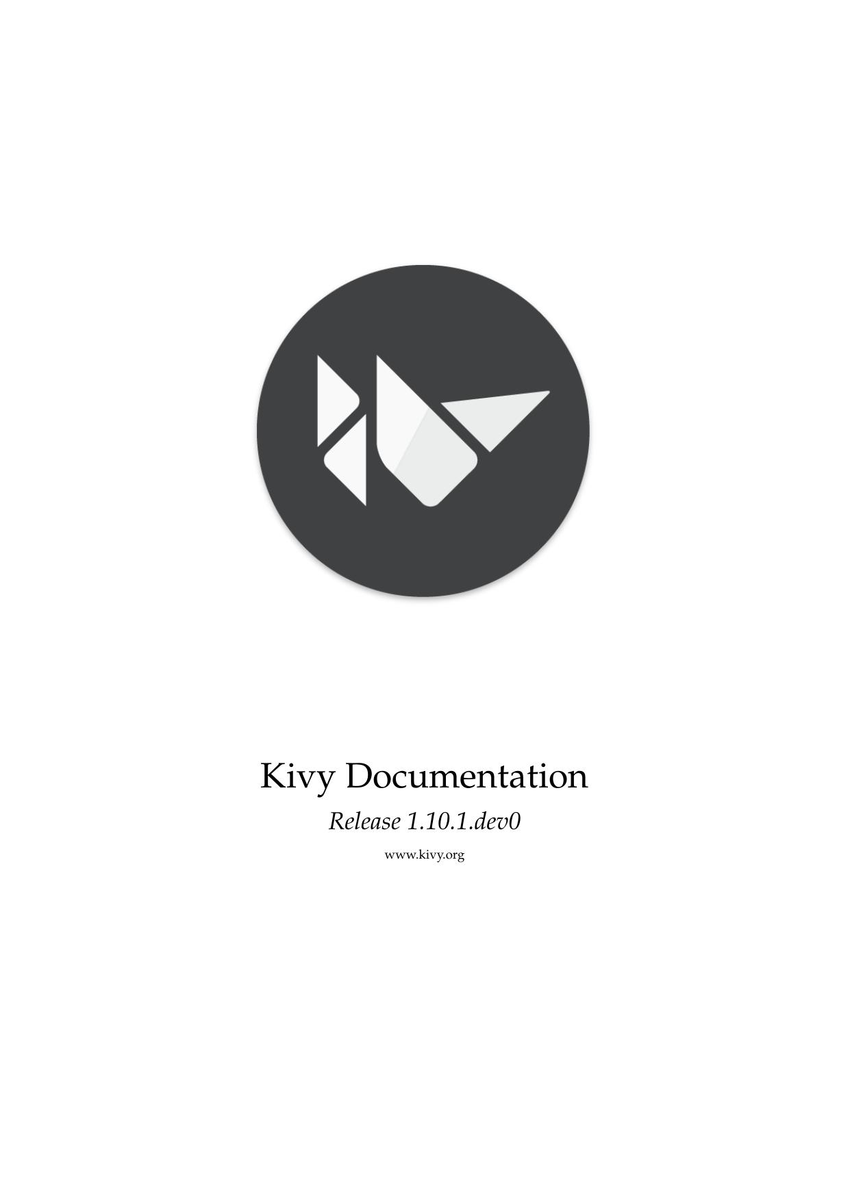 Kivy Documentation | manualzz com