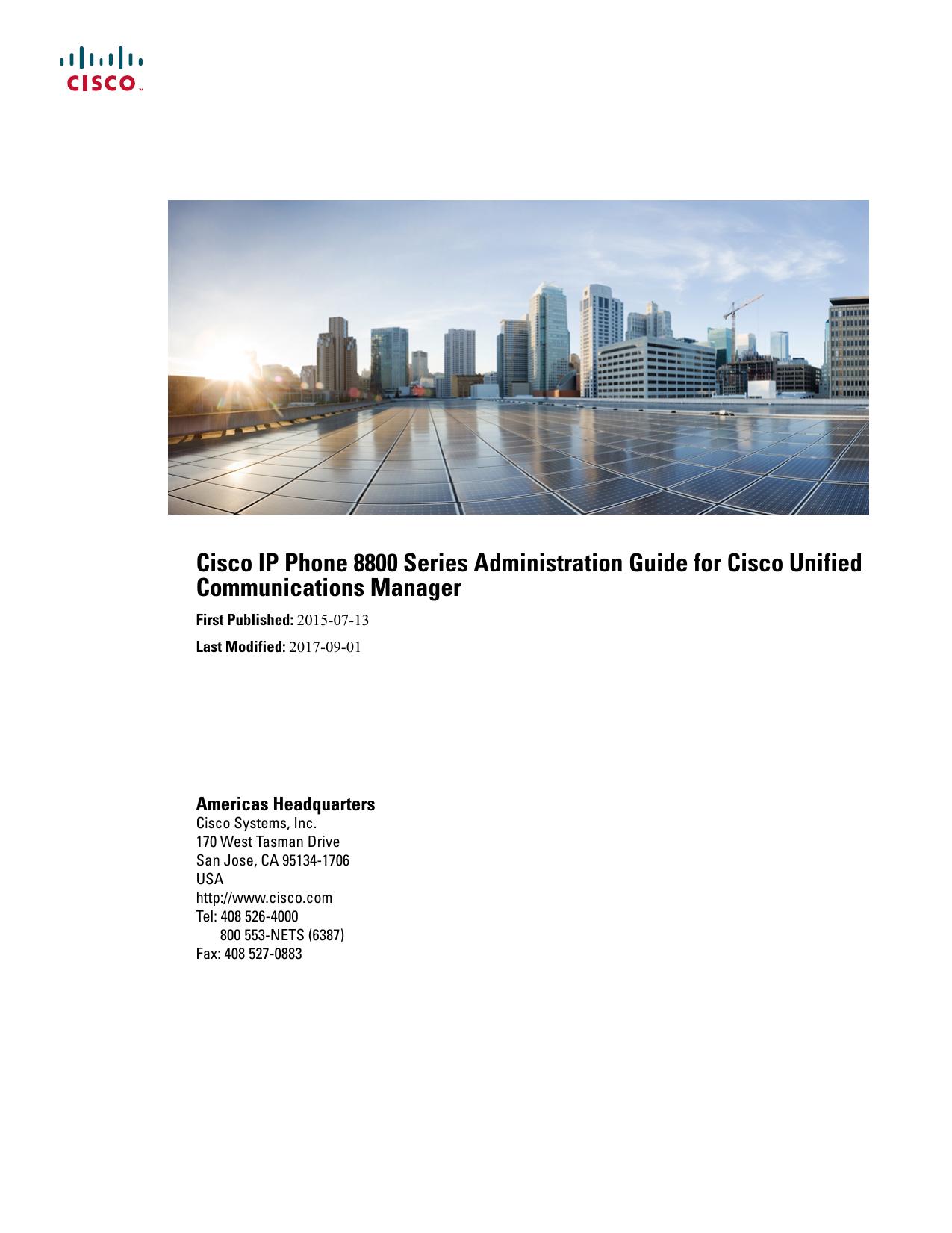 Cisco IP Phone 8800 Series Administration Guide for Cisco