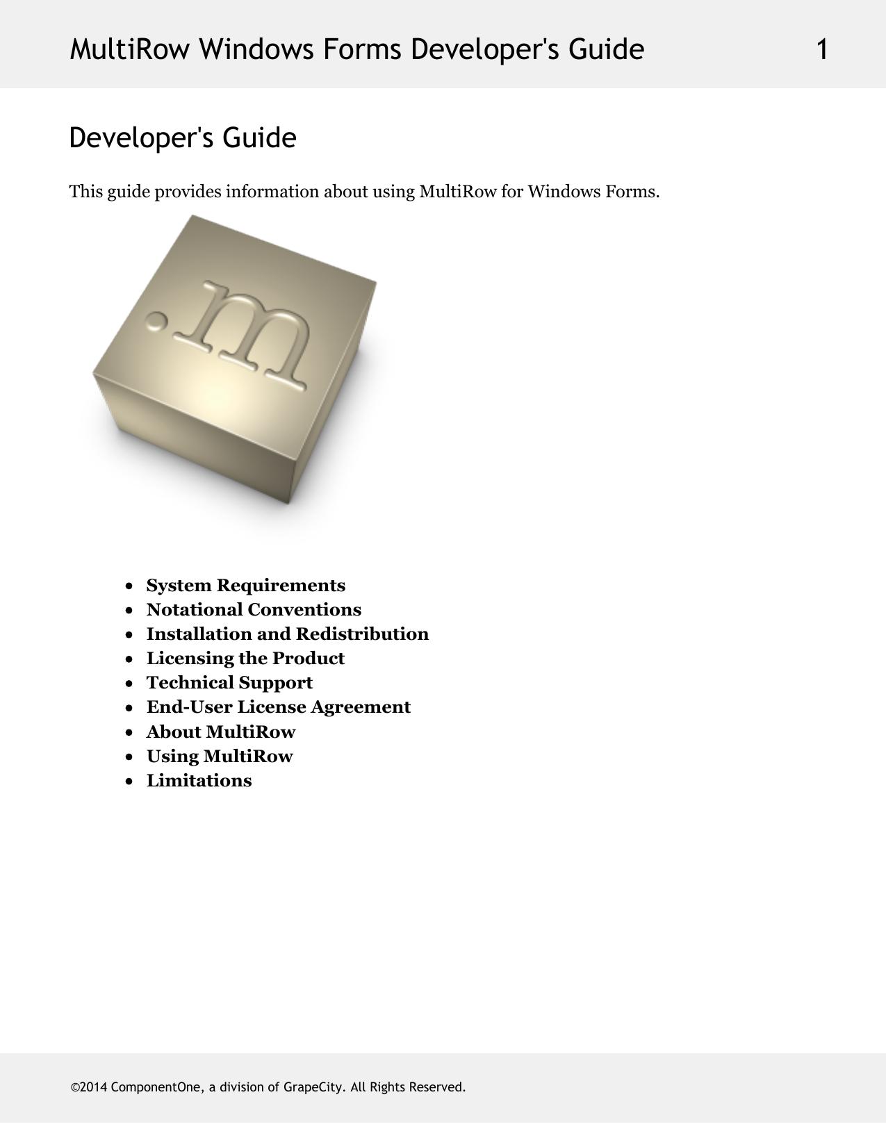 MultiRow Windows Forms Developer`s Guide | manualzz com