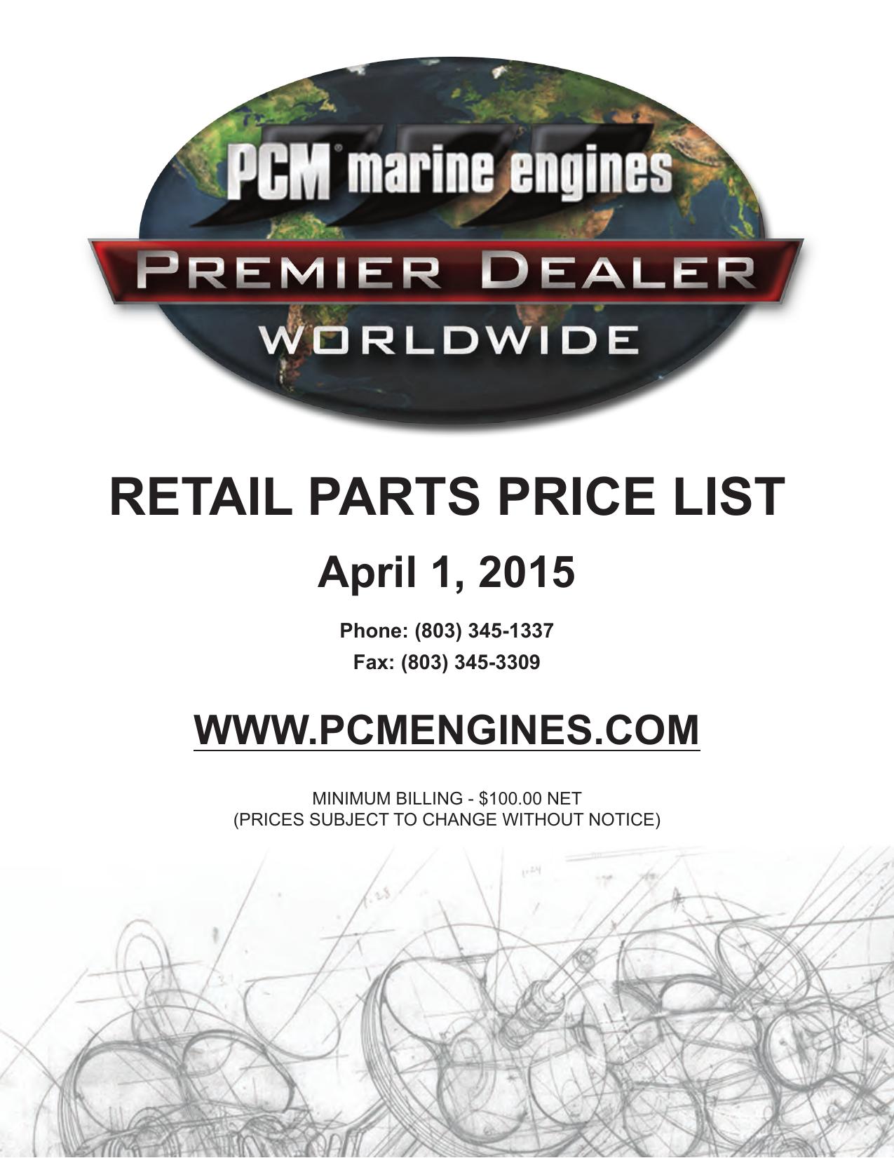 retail parts price list - PCM Engines | For Dealers | manualzz com